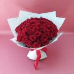 51 красная роза Эксплоуэр