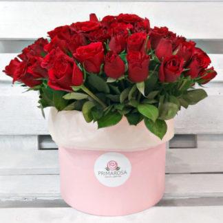 Купить 101 кенийскую розу в коробке в Челябинске