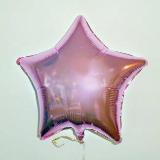Шар фольгированный в форме Звезды розовый