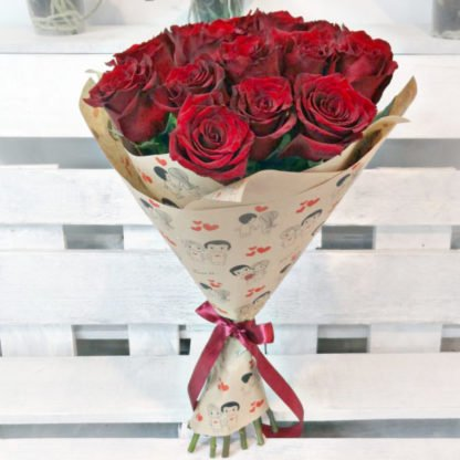 15 красных роз купить в Челябинске