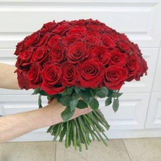 101 красная роза купить в Челябинске доставка