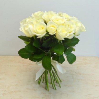 25 роз белых роз 40 см Россия