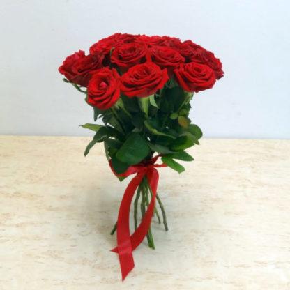 15 красных роз россия 40 см купить в Челябинске