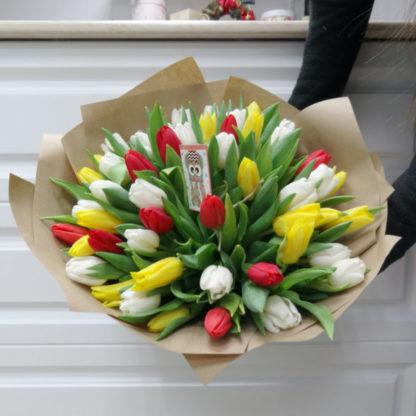 51 тюльпан разных цветов