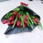 15 тюльпанов разных цветов