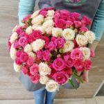Букет из кустовых роз микс №1