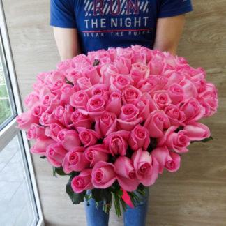 101 розовая роза микс