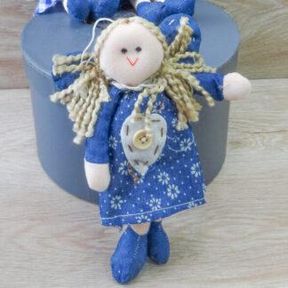 Девочка ручной работы в синем платье
